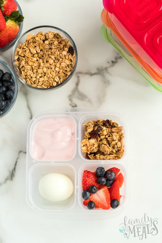 Easy Lunchboxes Yogurt yogurt parfait - Family Fresh Meals