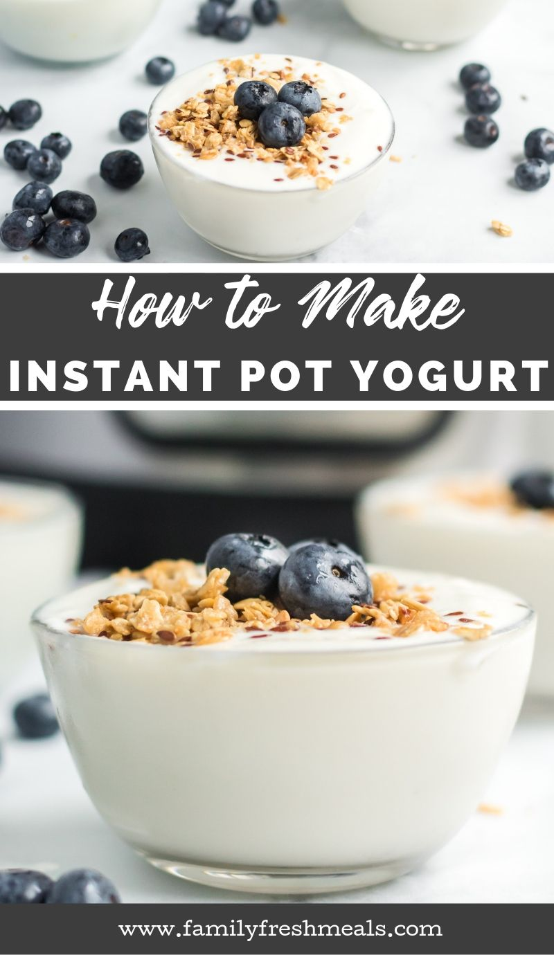 How to make Yogurt in the Instant Pot recipe from Family Fresh Meals