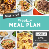 Easy Weekly Meal Plan Week 128