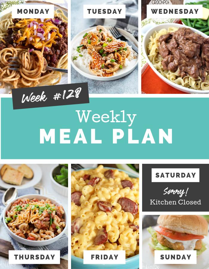 Easy Weekly Meal Plan Week 128