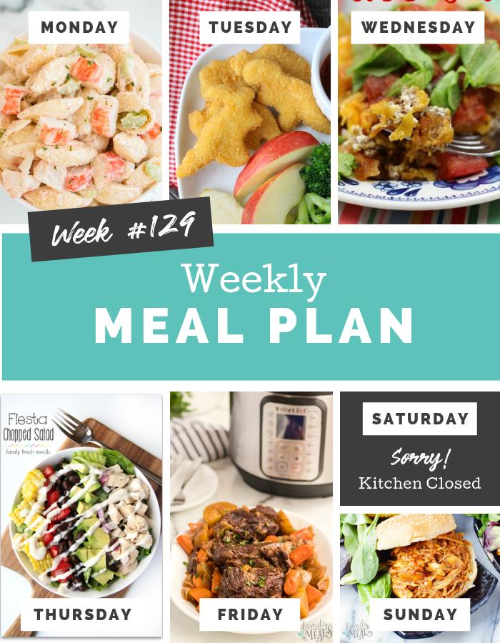 Easy Weekly Meal Plan Week 129