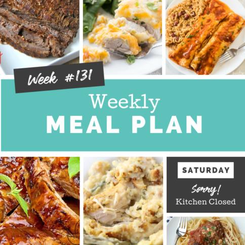 Easy Weekly Meal Plan Week 131