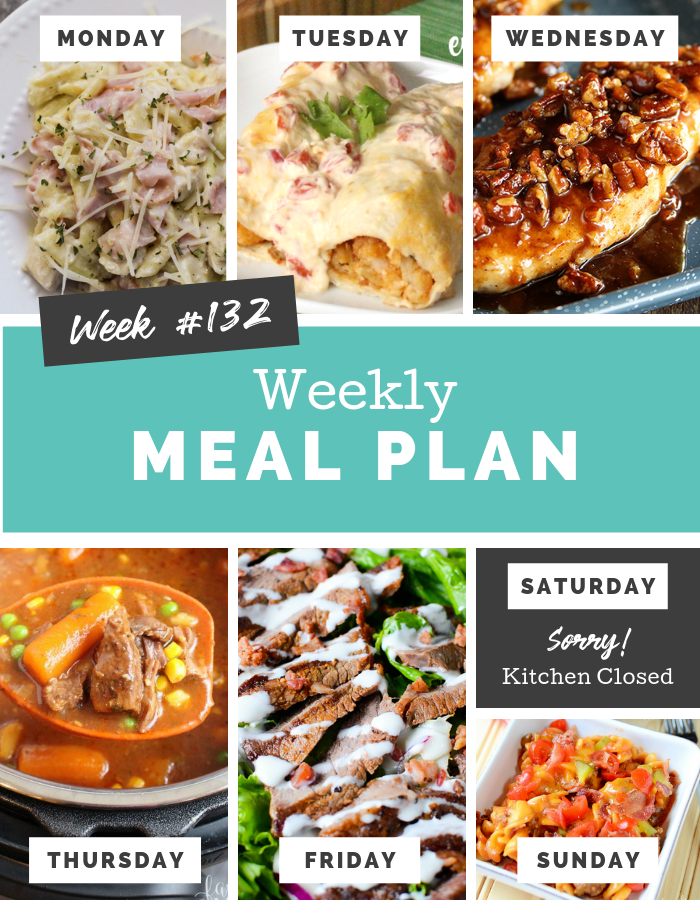 Easy Weekly Meal Plan Week 132 #familyfreshmeals #mealplan #mealprep #weeklymealplan #dinner #easyrecipe #familydinner #instantpot  via @familyfresh