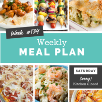 Easy Weekly Meal Plan Week 134
