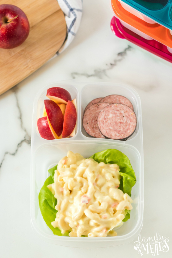 Pasta Salad Packed for lunch - School lunch from Family Fresh Meals