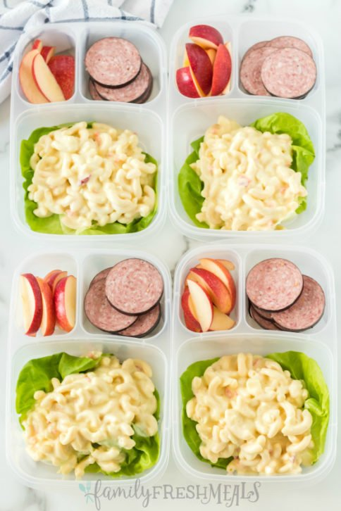 Pasta Salad Packed for lunch - Work lunch from Family Fresh Meals