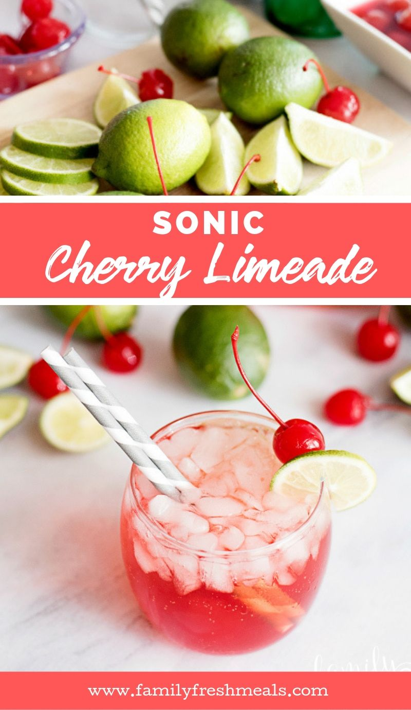 Sonic Cherry Limeade recipe from Family Fresh Meals