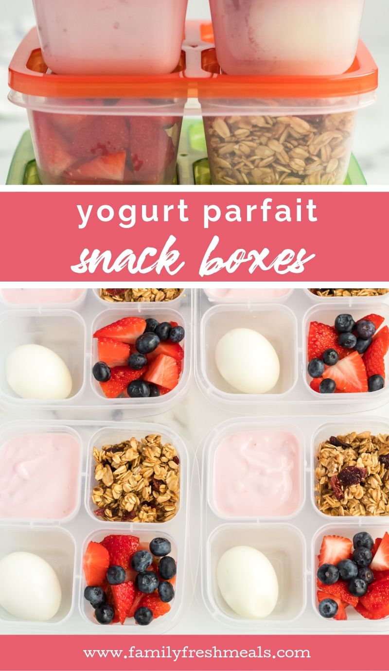 Yogurt Parfait Snack Boxes from Family Fresh Meals