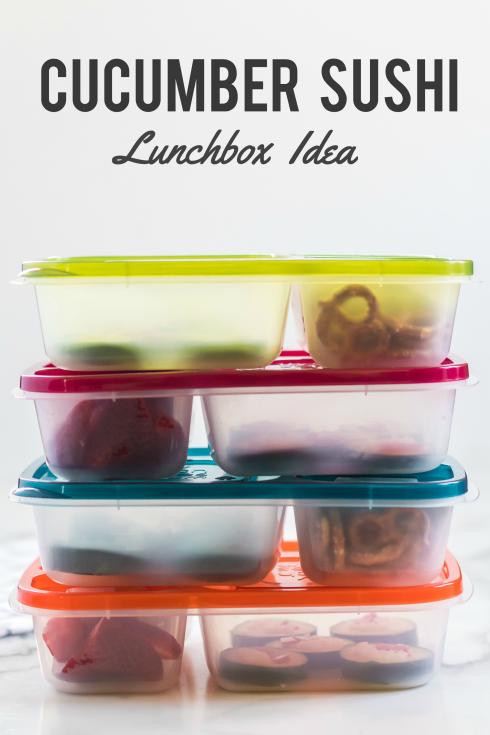 Cucumber Sushi Lunch Box Idea - Fun Lunch box Idea Family Fresh Meals