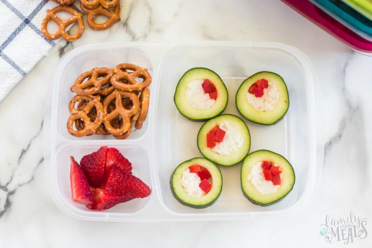 Cucumber Sushi Lunch Box Idea