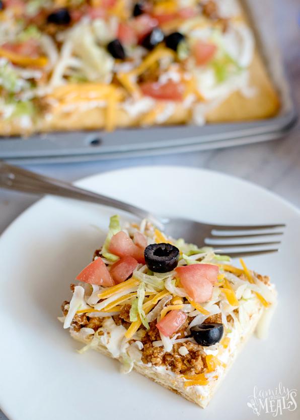 Easy Fiesta Taco Pizza Recipe - Family Fresh Meals