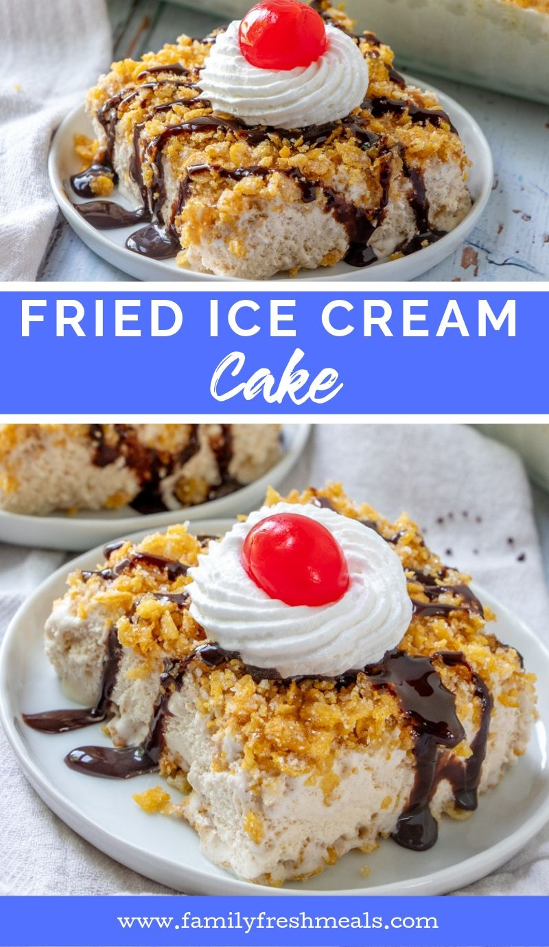 Fried Ice Cream Cake recipe from Family Fresh Meals
