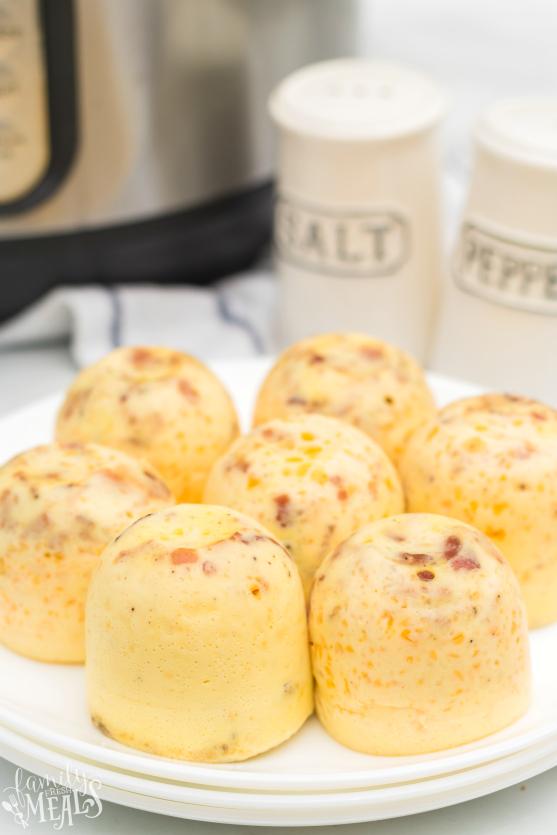Instant Pot Bacon Cheddar Egg Bites - Family Fresh Meals