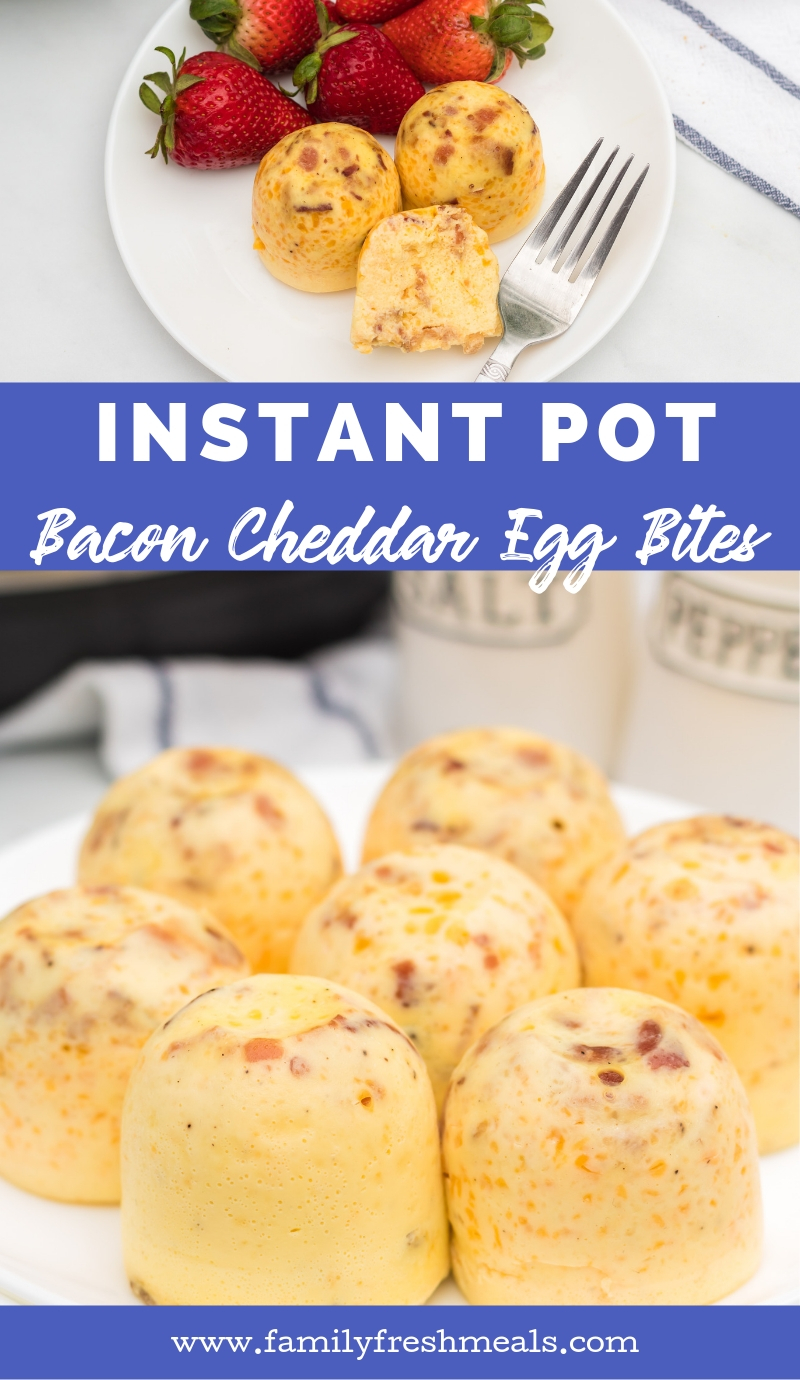Instant Pot Bacon Cheddar Egg Bites from Family Fresh Meals