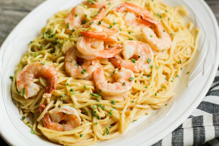 Instant Pot Bang Bang Shrimp Pasta - Family Fresh Meals recipe