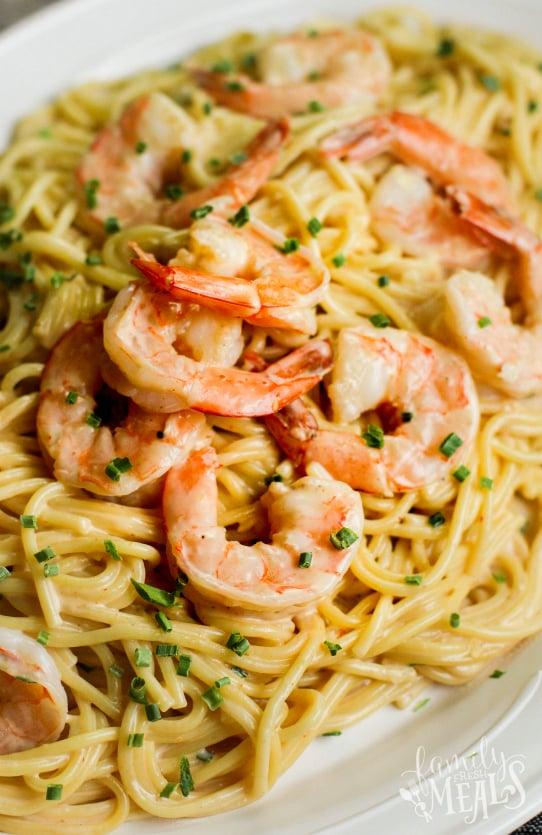 Instant Pot Bang Bang Shrimp Pasta Recipe - Family Fresh Meals