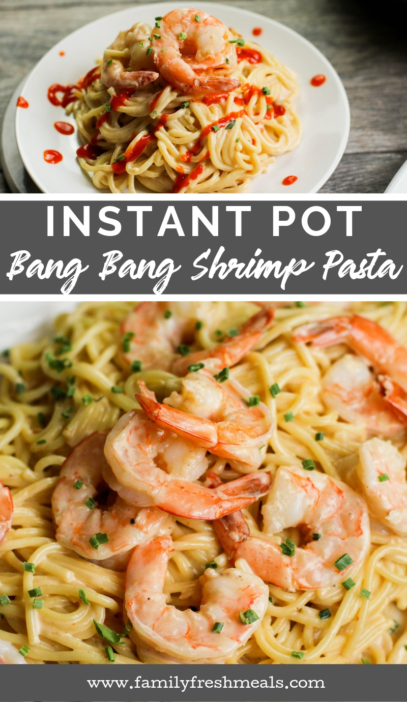 Instant Pot Bang Bang Shrimp Pasta is lightning-fast recipe. This magical combination of tangy, sweet, and spicy has made the dish a huge hit. #instantpot #bangbangshrimp #pasta #instantpotpasta #pressurecooker #shrimp via @familyfresh