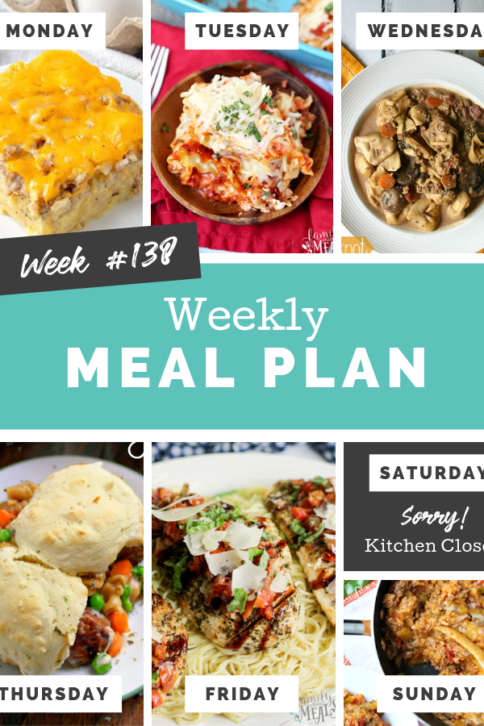 Easy Weekly Meal Plan Week 138