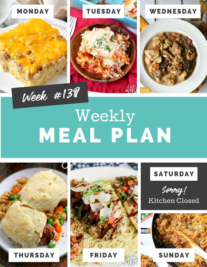 Easy Weekly Meal Plan Week 138