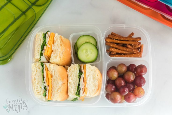 Mini Sliders Lunchbox Idea - School lunchbox ideas - Family Fresh Meals
