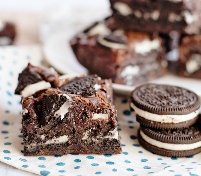 Oreo Stuffed Brownies - Family Fresh Meals