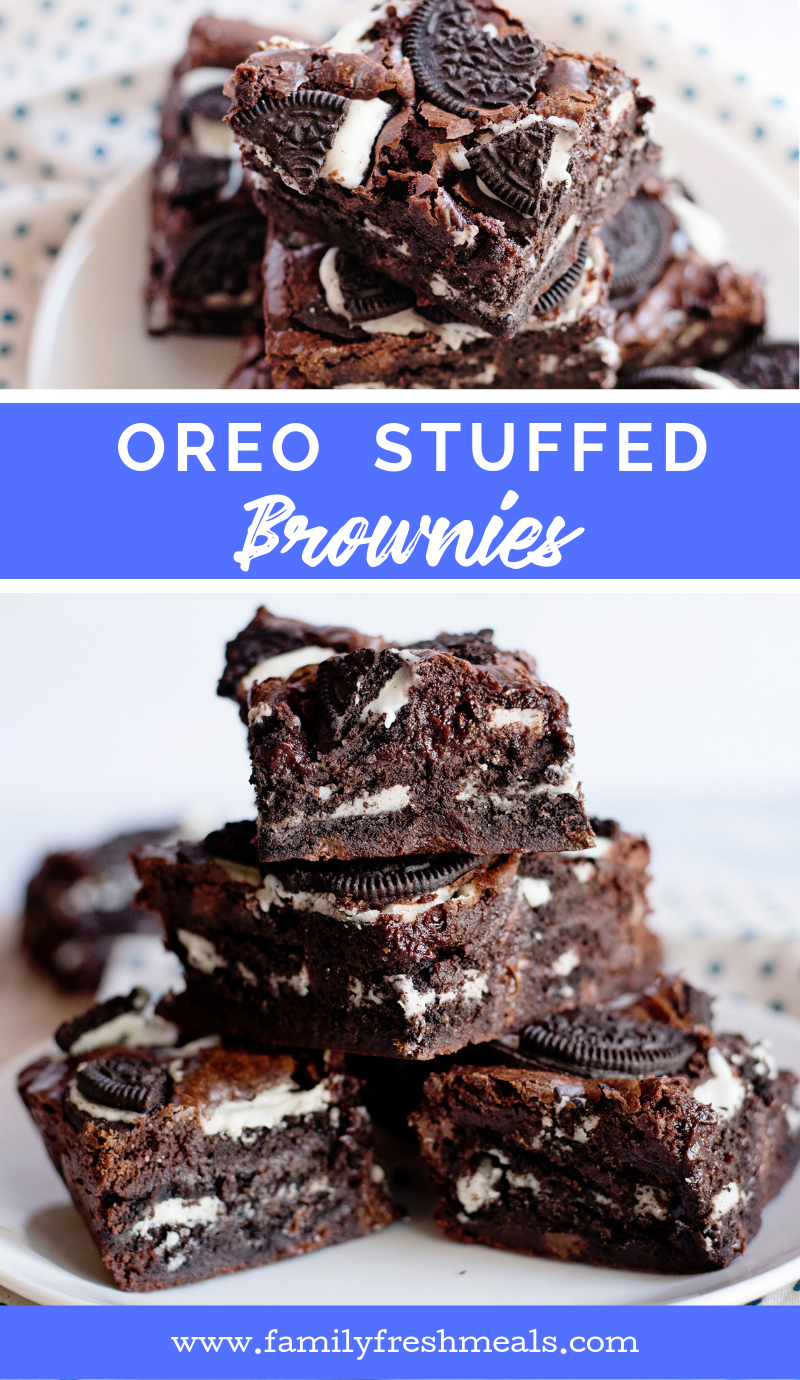 Oreo Stuffed Brownies from Family Fresh Meals recipe