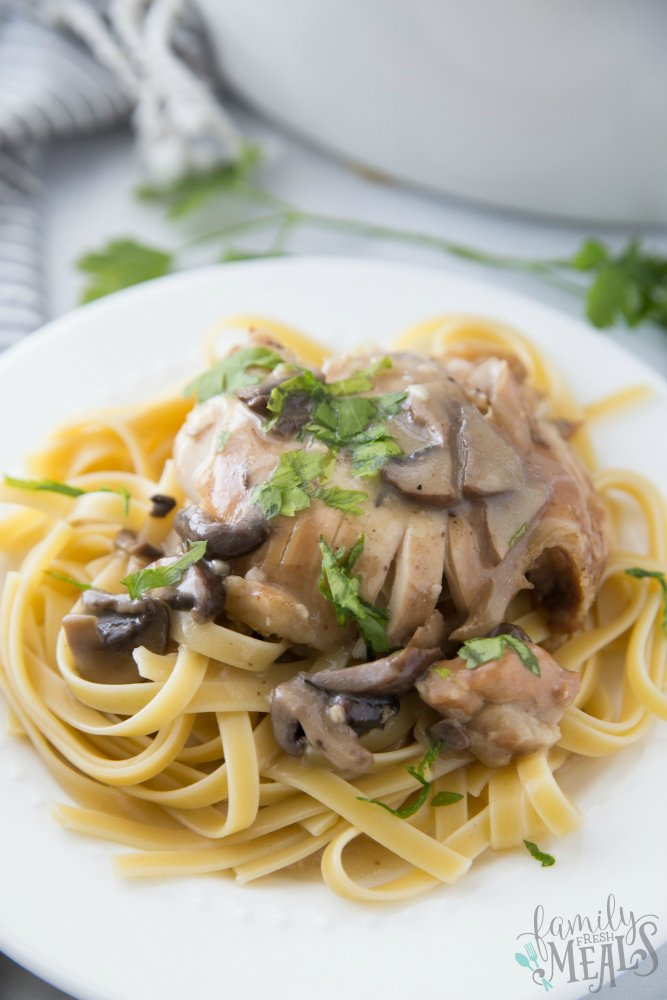 Crockpot Chicken Marsala Recipe - Family Fresh Meals