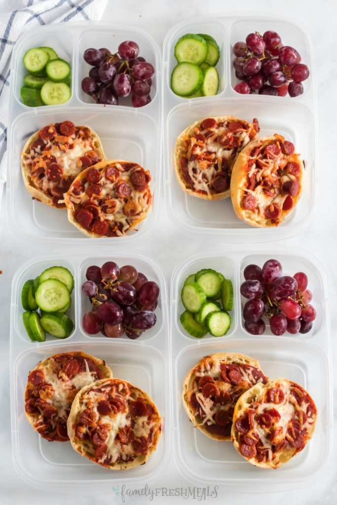 English Muffin Pizza Lunchbox Idea - Family Fresh Meals