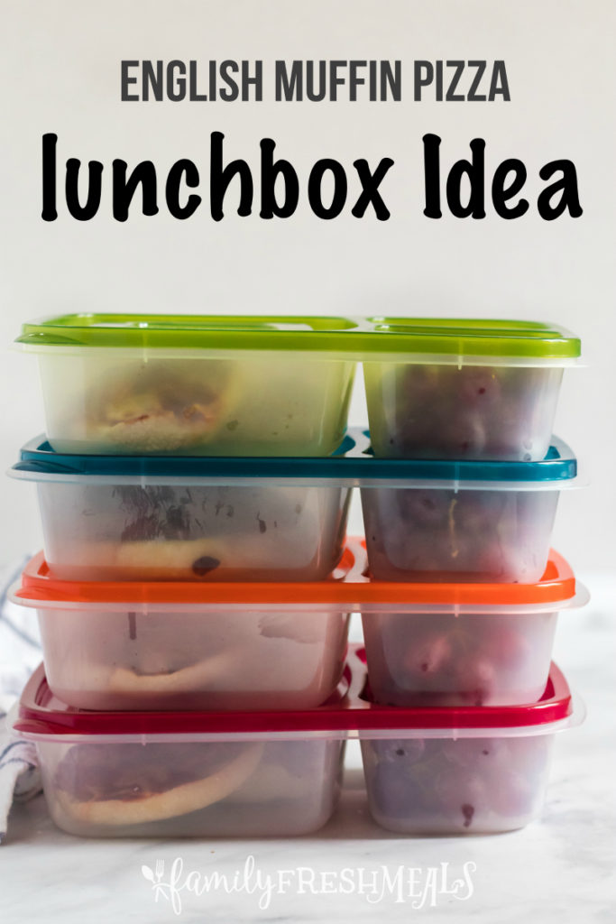 English Muffin Pizza Lunchbox Idea - for school or work - Family Fresh Meals