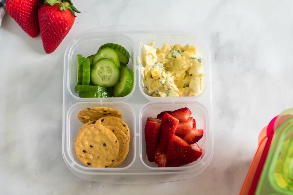 Healthy Egg Salad Lunchbox Idea - Packed fast with easylunchboxes