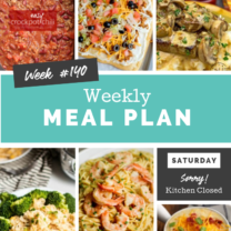 Easy Weekly Meal Plan Week 140