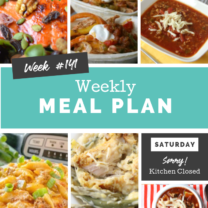 Easy Weekly Meal Plan Week 141