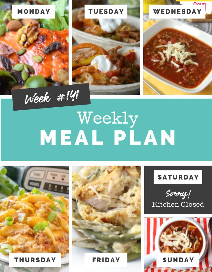 easy weekly meal plan week 141