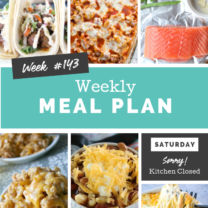 Easy Weekly Meal Plan Week 143