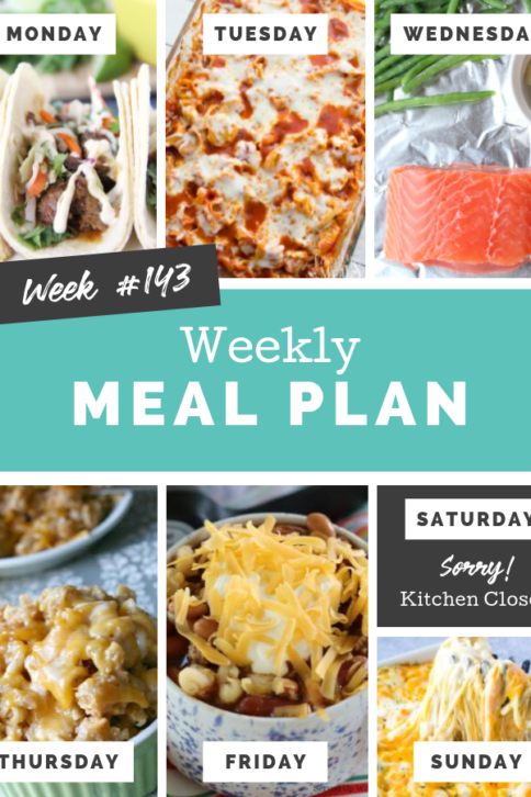 Easy Weekly Meal Plan Week 143 - Family Fresh Meals