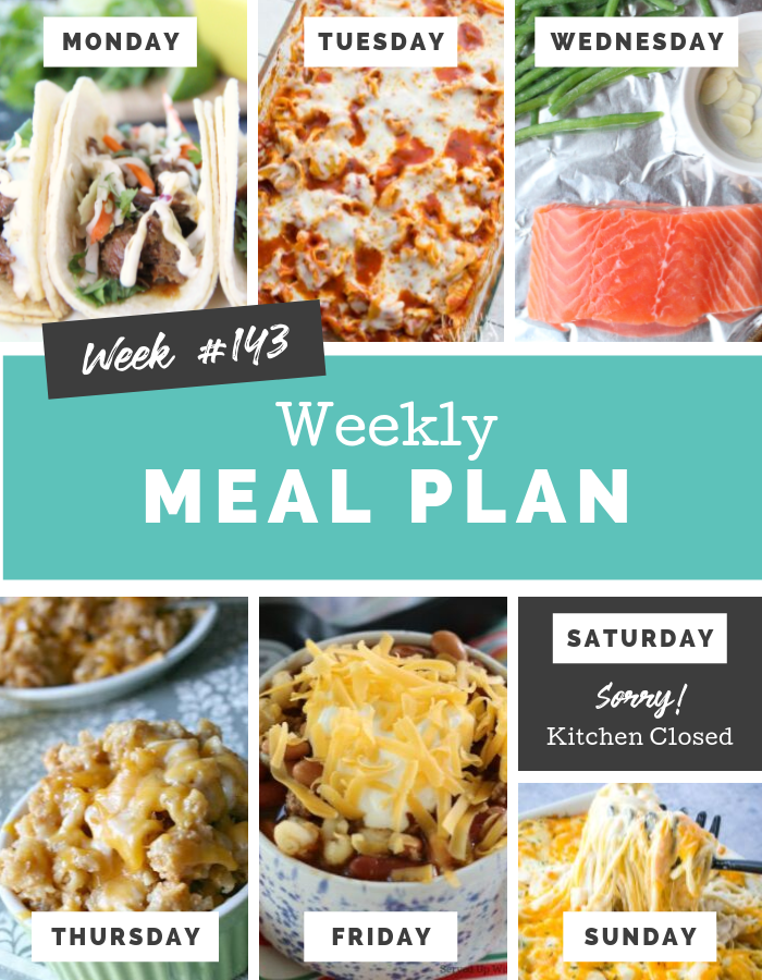 Easy Weekly Meal Plan Week 143 #mealplan #mealprep #familyfreshmeals #dinner #meals #easyrecipes via @familyfresh