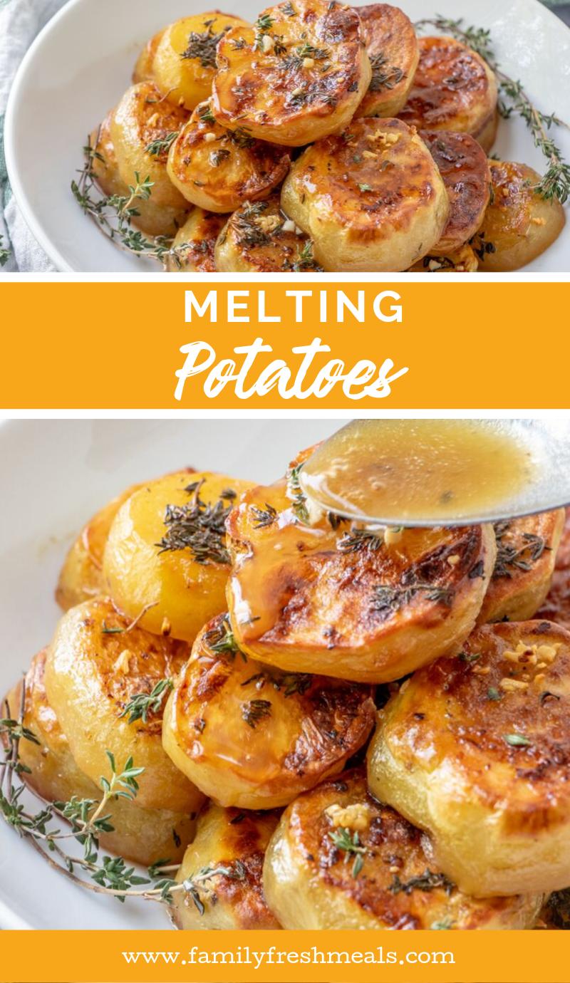 Melting Potatoes Recipe from Family Fresh Meals #familyfreshmeals #potatoes #meltingpotatoes #southernrecipe #easyrecipe #roastedpotatoes #roasted #butter #holiday #holidayrecipe #sidedish via @familyfresh