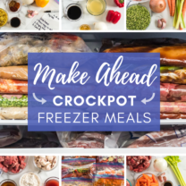 Make Ahead Crockpot Freezer Meals