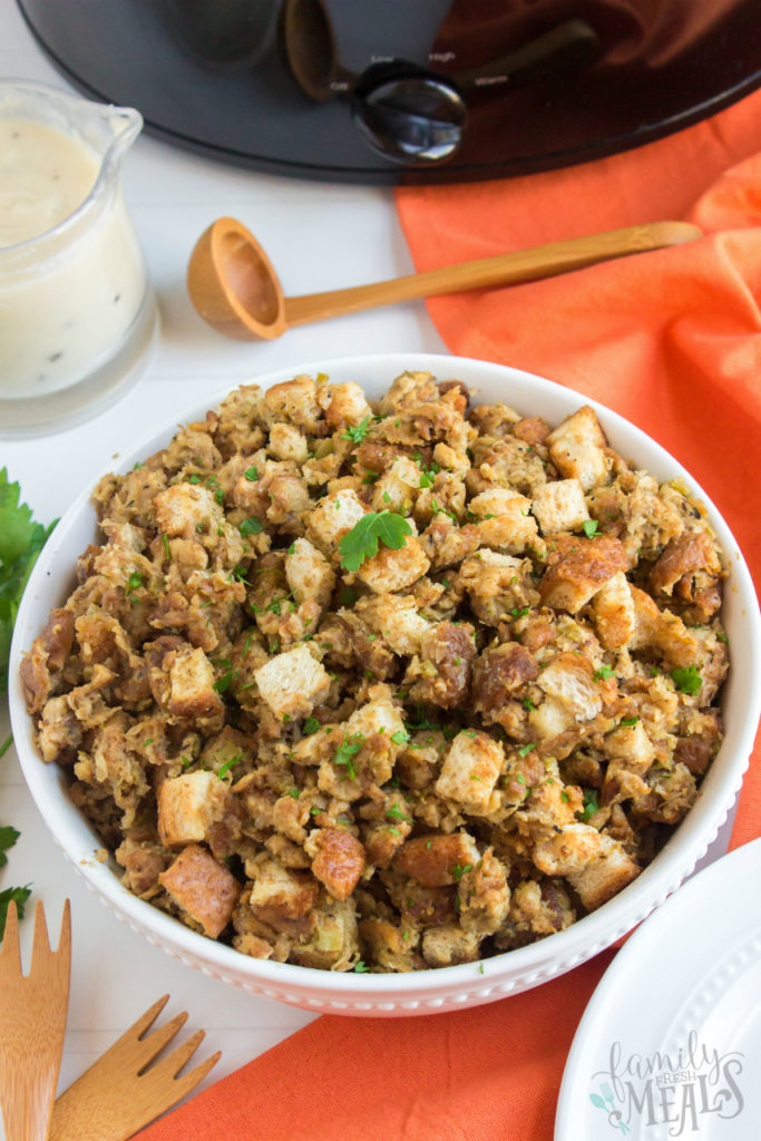 Easy Crockpot Stuffing Recipe - Family Fresh Meals