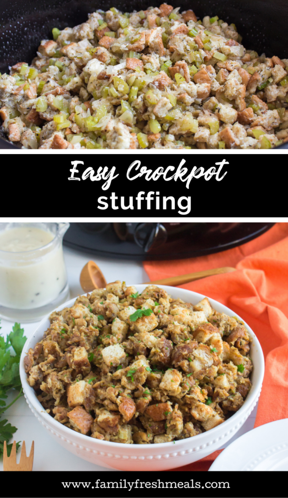 Easy Crockpot Stuffing Recipe from Family Fresh Meals