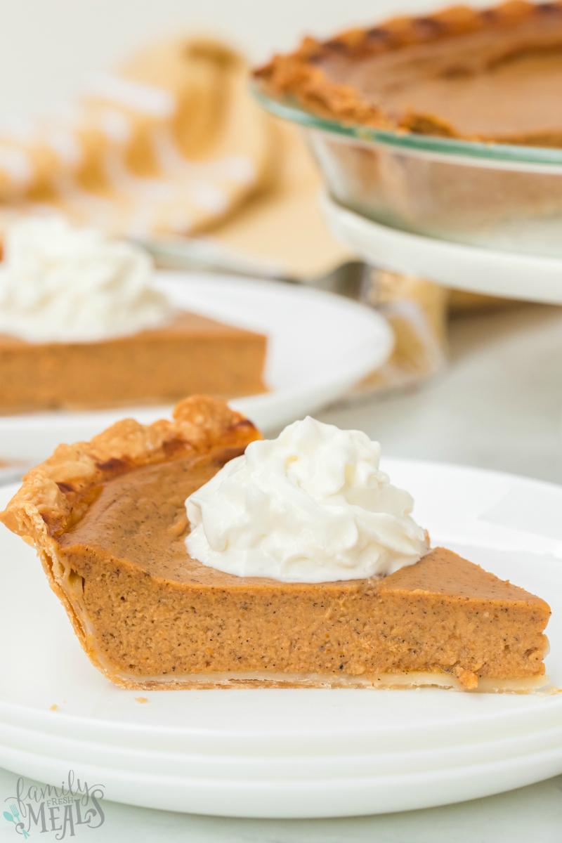 Easy Homemade Pumpkin Pie Recipe Family Fresh Meals