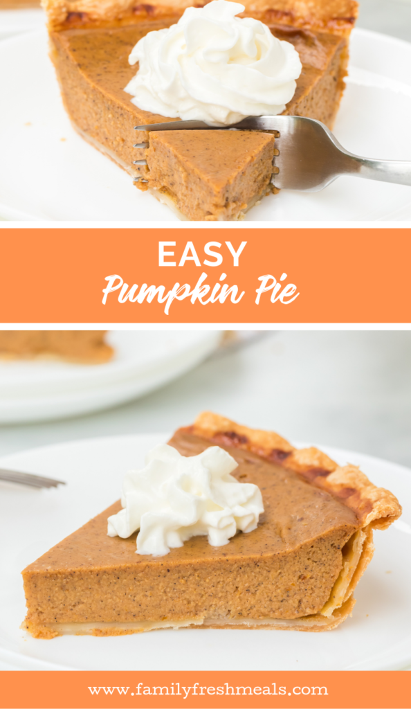 Easy Homemade Pumpkin Pie Recipe from Family Fresh Meals