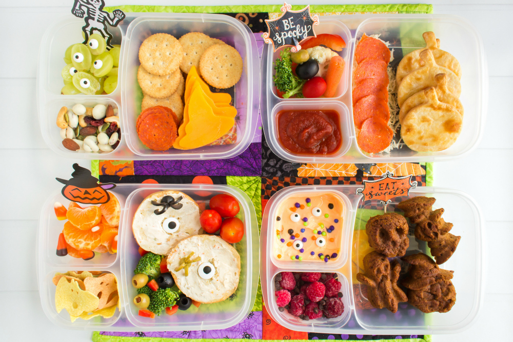 Fun Halloween Food Lunchbox Ideas - Easy Lunchboxes school lunch ideas