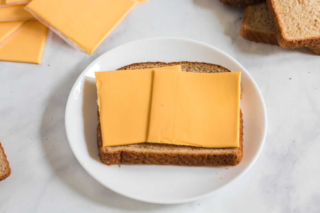 Preparing grilled cheese - Family Fresh Meals