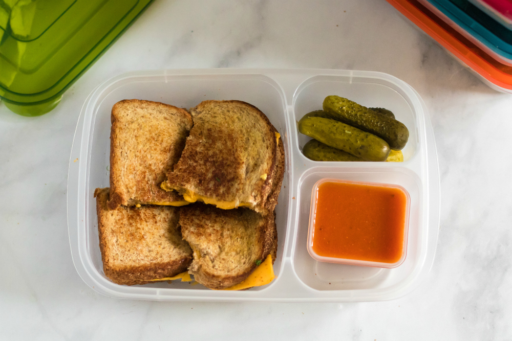Grilled Cheese Lunch box Idea - Family Fresh Meals