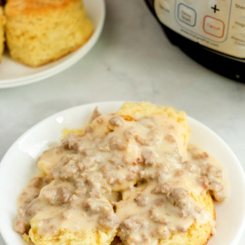 How to Make Instant Pot Sausage Gravy - Family Fresh Meals