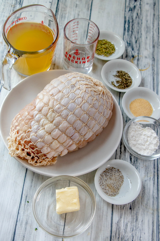 Instant Pot Turkey Breast - Ingredients on table