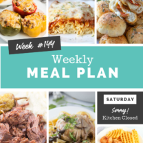 Easy Weekly Meal Plan Week 144