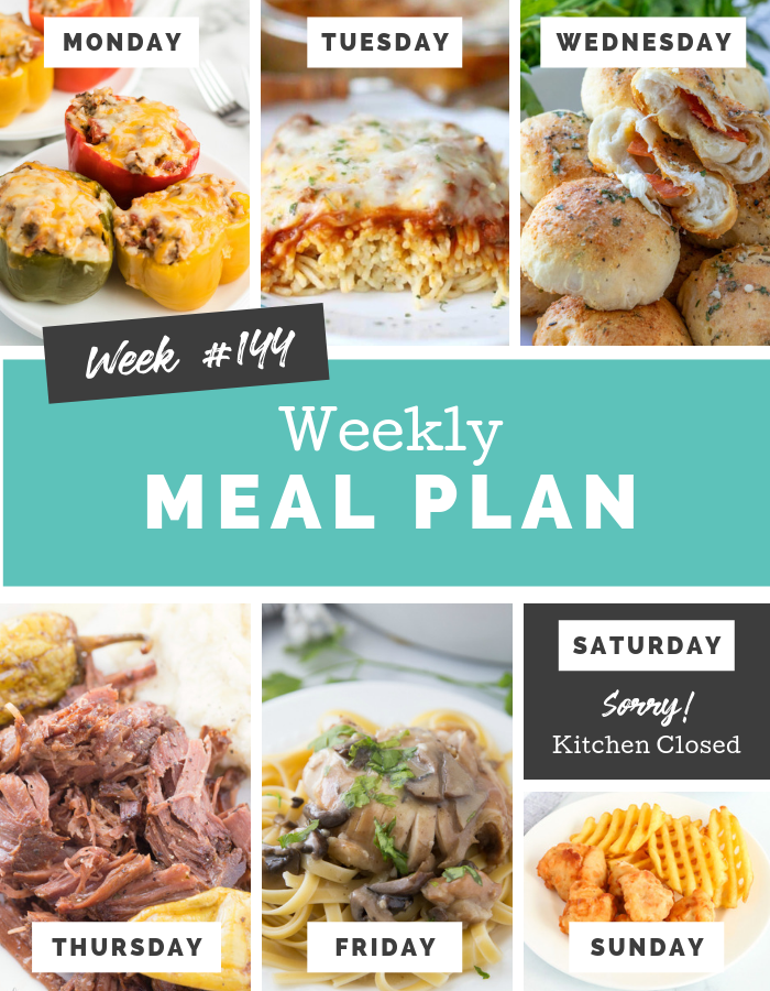 Easy Weekly Meal Plan Week 144 - Family Fresh Meals