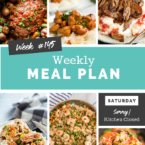 Easy Weekly Meal Plan Week 145